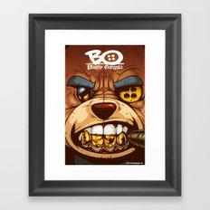 Bo: Plushy Gangsta CloseUP Framed Art Print