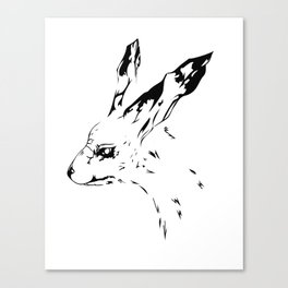 Tech Rabbit Canvas Print