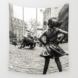 Fearless Girl & Bull - NYC Wall Tapestry