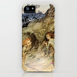 """""""Puck and a Fairy"""" by Arthur Rackham iPhone Case"""