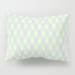 Gently green checkered pattern. Pillow Sham