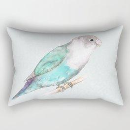 Pale blue lovebird Rectangular Pillow