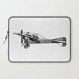 Old Airplane Sideview Detailed Illustration Laptop Sleeve
