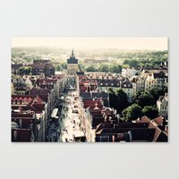 poland Canvas Prints featuring Gdansk, Poland by Erik Witsoe Photography