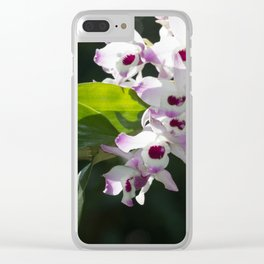 Orchid pattern Clear iPhone Case
