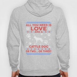Cattle Dog Ugly Christmas Sweater Hoody