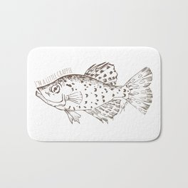 I'm a little Crappie, Funny Fish Illustration Bath Mat