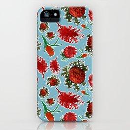 Australian Native Floral Pattern iPhone Case