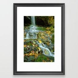 Autumn Color on Doyle's Falls Framed Art Print