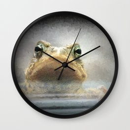 Frog from Front Painting Style Wall Clock
