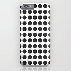 BLACK POLKA DOTS PATTERN iPhone 6 Slim Case