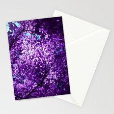 purple tree XXXIV Stationery Cards