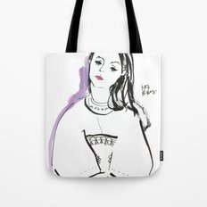Mary - Girl in Marker and Gouache Tote Bag