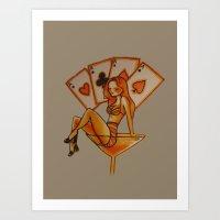 Swimming in Martini Art Print