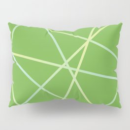 Lines 92 - lime and pale turquoise on greenery Pillow Sham
