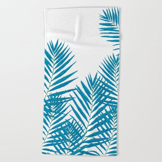 Fern Blue Beach Towel