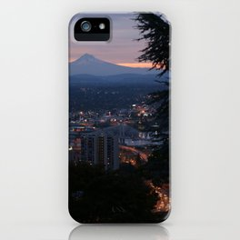 Mount Hood over Portland iPhone Case