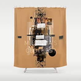 """""""Filthy Lesson"""" Graphic Art Print Shower Curtain"""