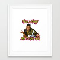 fresh prince Framed Art Prints featuring Fresh prince by MartiniWithATwist