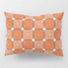 Red & Orange Circles Pillow Sham