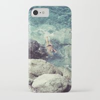 swimming iPhone & iPod Cases featuring SWIMMING by Marte Stromme