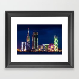 A cityscape of Batumi, Georgia Framed Art Print