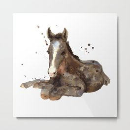 Graceful Grey Metal Print