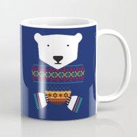 polar bear Mugs featuring Polar Bear by Marco Recuero
