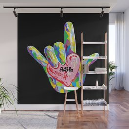 I Heart ASL Wall Mural