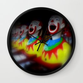 Laughing Clowns Wall Clock