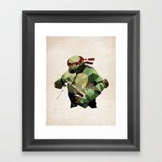 Polygon Heroes - Raphael Framed Art Print