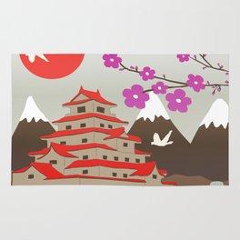 Japanese Pagoda Rug