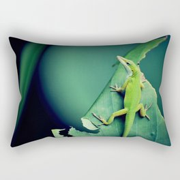 Green Critter Rectangular Pillow