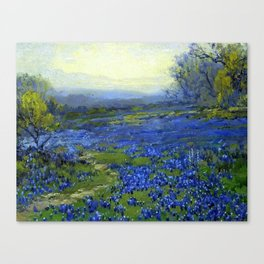 Meadow of Wild Blue Irises, Springtime by Maria Oakey Dewing Canvas Print