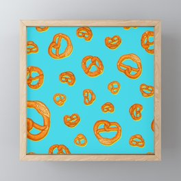 Pretzel love colorful pop pattern Framed Mini Art Print