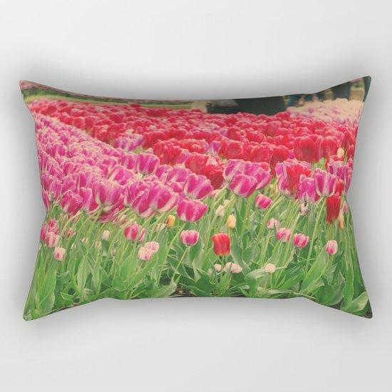 The dancing tulips Rectangular Pillow