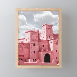 A8 - Red Traditional Buildings, Marrakesh, Morocco Framed Mini Art Print