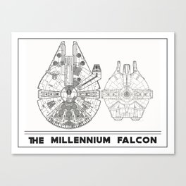 Millennium Falcon Blueprint Canvas Print