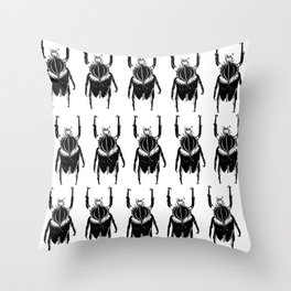 beetletime Throw Pillow