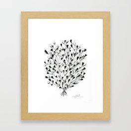 Shrub in Bloom Framed Art Print