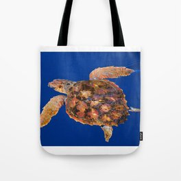Loggerhead sea turtle Tote Bag