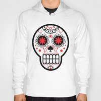 sugar skull Hoodies featuring sugar skull by Diseños Fofo