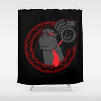 donkey kong Shower Curtains featuring Donkey Kong by La Manette