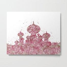 Jasmin Castle Disneys Metal Print
