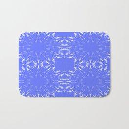 Periwinkle Blue Color Burst Bath Mat