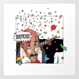 Ability to shoot confetti from eyes Art Print