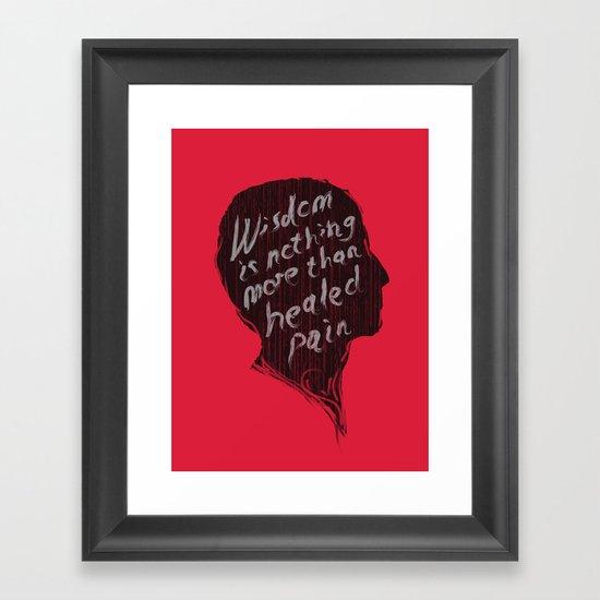 Words of wisdom Framed Art Print
