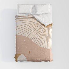 Yin Yang Blush - Sun & Moon Comforters