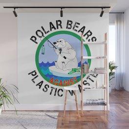 Polar Bear Plastic Waste Earth Day 2019 Wall Mural