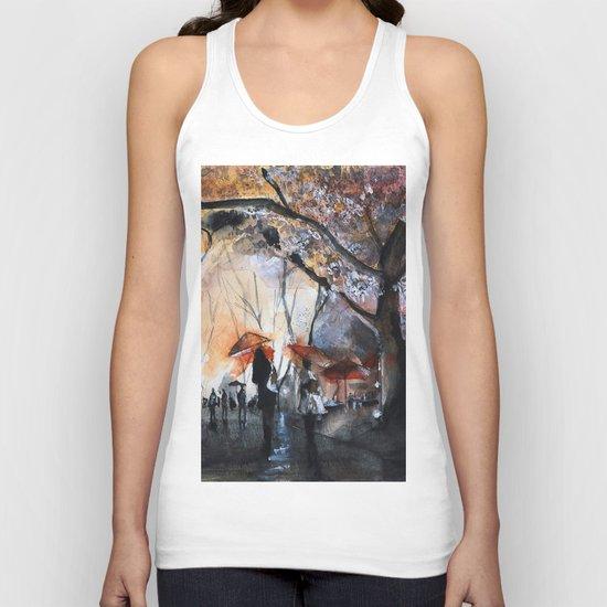 Watercolor painting - Autumn rain - Unisex Tank Top